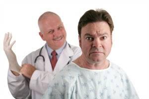 При подозрении на аденому придется пройти физикальный ректальный осмотр простаты