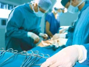 При запущенной стадии проводится хирургическое вмешательство