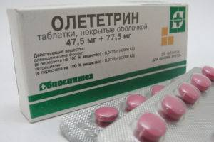 Препарат Олететрин